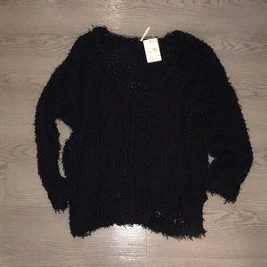 Free people Black Sweater